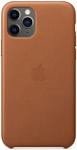 Apple Leather Case для iPhone 11 Pro Max (золотисто-коричневый)