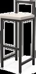 Millwood СДН-6 Крам/L (дуб белый Craft/металл черный)