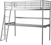 Ikea Свэрта 208x97 (кровать-чердак, серебристый) (591.512.71)