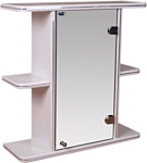 Гамма Шкаф с зеркалом 10 (белый, правый)
