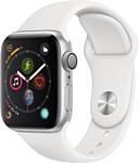 Apple Watch Series 4 40mm (алюминий серебристый/белый)