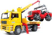 Bruder MAN TGA Breakdown truck with cross country vehicle 02750