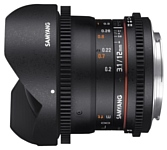 Samyang 12mm T3.1 ED AS NCS VDSLR Fish-eye Nikon F