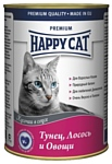 Happy Cat Консервы Тунец, лосось и овощи (0.4 кг) 24 шт.