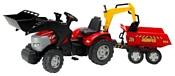 Falk Трактор-экскаватор с прицепом и двумя ковшами (1030W)