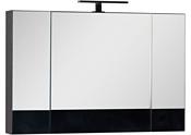 Aquanet Шкаф с зеркалом Нота 100 00159111 (черный)