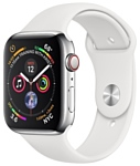 Apple Watch Series 4 GPS + Cellular 40mm Stainless Steel Case with Sport Band