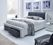 Halmar Cassandra S 200x140 (белый/черный)