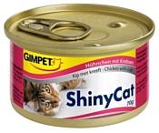 GimCat (0.07 кг) 48 шт. ShinyCat с курочкой и крабами