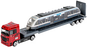 Технопарк Набор Металл Машин Тягач с трамваем 1045G-R