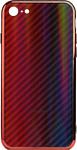 EXPERTS AURORA GLASS CASE для iPhone 6 с LOGO (красно-синий)