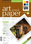 Colorway CW ART глянцевая фактура дерево A4 230г/м 10л (PGA230010WA4)