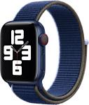 Apple из плетеного нейлона 40 мм (черно-синий) MJFV3