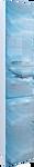 MarkaOne Шкаф-пенал VisBaden 30П У73179 (левый, синий мрамор)