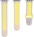 Evolution AW40-SP01 для Apple Watch 38/40 мм (cold silver/fluo yellow)