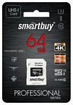 SmartBuy Professional microSDXC Class 10 UHS-I U3 64GB + SD adapter