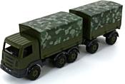 Полесье Престиж автомобиль бортовой тентовый военный с прицепом РБ 49155