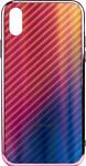 EXPERTS AURORA GLASS CASE для iPhone X/XS с LOGO (розовый)