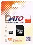 DATO microSDHC Class 10 UHS-I U1 8GB + SD adapter