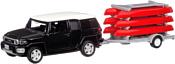Автопанорама Toyota FJ Cruiser c прицепом с досками для серфинга JB1251174