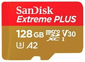 SanDisk Extreme PLUS microSDXC Class 10 UHS Class 3 V30 A2 170MB/s 128GB + SD adapter