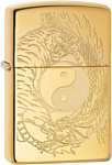 Zippo High Polish Brass Tiger and Dragon Design 49024