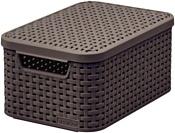 Keter Style Box M V2+LID DBR 210 (темно-коричневый)
