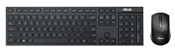 ASUS W2500 Wireless Keyboard and Mouse Set Black USB