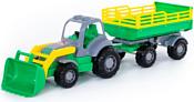 Полесье Крепыш трактор с прицепом №2 и ковшом 44808