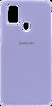 EXPERTS SOFT-TOUCH case для Samsung Galaxy M21 с LOGO (лаванда)