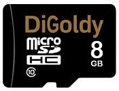 Digoldy microSDHC class 10 8GB + SD adapter