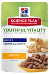 Hill's Science Plan (0.085 кг) 1 шт. Feline Adult 7+ Youthful Vitality Chicken Pouch
