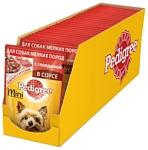 Pedigree Для взрослых собак мелких пород с говядиной в соусе