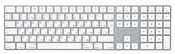 Apple Magic Keyboard with Numeric Keypad (MQ052RS/A) Silver Bluetooth