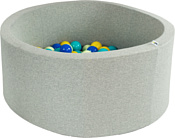 Misioo 90x30 200 шаров (светло-серый)
