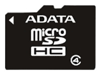 ADATA microSDHC Class 4 8GB + SD adapter