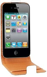 Swiss Charger Leather Flip Case для Apple iPhone 4/4s (SCP10004W)