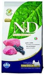 Farmina N&D Grain-Free Canine Lamb & Blueberry Adult Mini (2.5 кг)