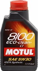 Motul 8100 Eco-clean+ 5W30 C1 1л