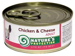 Nature's Protection Консервы Cat Adult Chicken & Cheese (0.1 кг) 1 шт.
