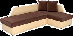 Mebelico Андора 59108 (вельвет коричневый/экокожа бежевая)