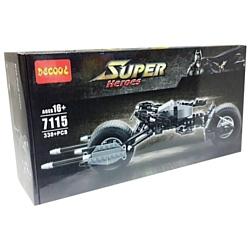 Decool Super Heroes 7115 Мотоцикл Бэтмена