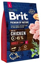 Brit (3 кг) Premium by Nature Adult L
