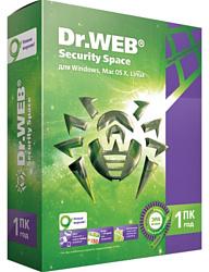 Dr.Web Security Space (1 ПК, 1 год, ключ)