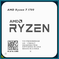 AMD Ryzen 7 1700 Summit Ridge (AM4, L3 16384Kb)