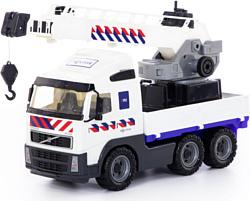 Полесье Volvo автомобиль-кран с поворотной платформой полицейский 77318