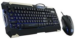 Tt eSPORTS by Thermaltake COMMANDER Gaming Gear Combo Black USB