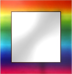 Dubiel Vitrum Tecza 65x65 cm зеркало (5905241001623)
