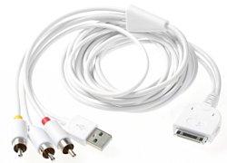 Apple Dock Connector 30 pin - USB 2.0 тип A / 3 RCA 1.5 м