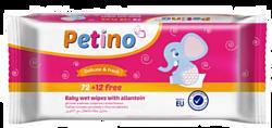 Petino с аллантоином для ухода за детьми, 72+12 шт